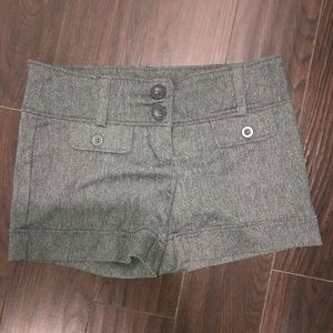Brand new grey dress pant material shorts